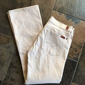 7 for all mankind creamy blush bootcut Jeans